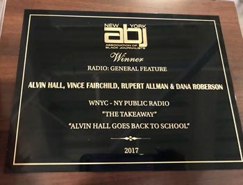 Alvin Hall radio show award